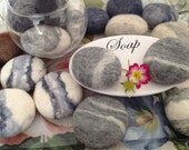 5 SOAP pebbles, Bathroom Decor, Hand Felted Soap, felted soap,