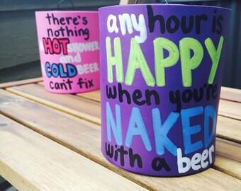 Custom Shower Beer Can Holder