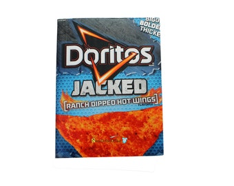 Large Doritos Jacked Upcycled Recycled Composition Notebook for Back to School Gift, Notes, Sketches, Planning, Lists, Challenges, & Ideas