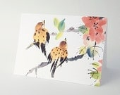 Sparrow Blank Art Note Card Set of 8 A2 Size