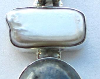 Labradorite, Pearl & 925 Sterling Silver