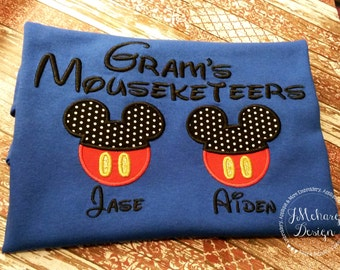 Gorgeous Custom embroidered Disney Mousketeers Shirts for the Family! 871