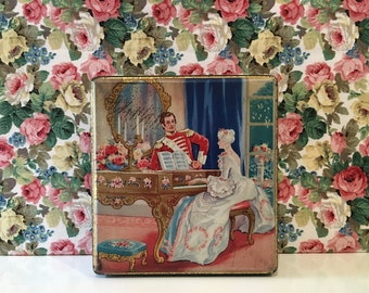 Vintage Thorne's Toffee Tin Regency Charming Couple Kitsch