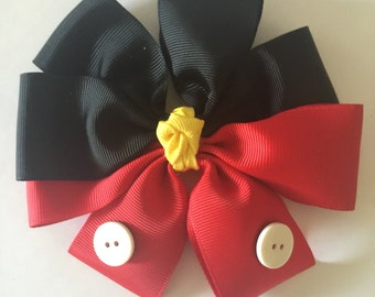 Disney Mickey Mouse inspired hair bow
