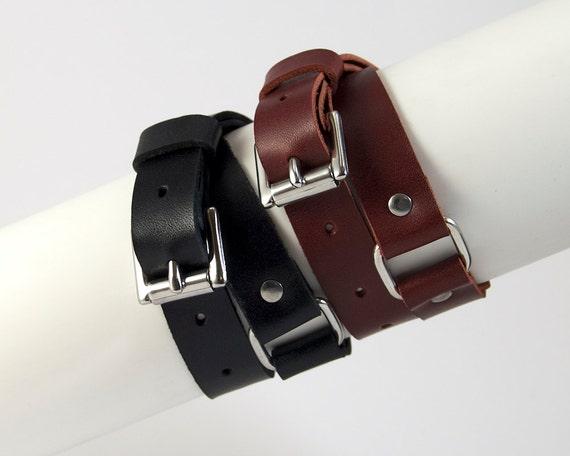 Leather Bondage Bracelet, Leather Handcuffs, BDSM Wrist Cuffs