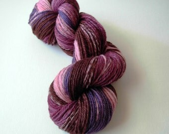 Merino yarn, Handspun merino yarn, hand dyed yarn, gradient color, 3 ply, DK weight, 3 oz., color changing yarn