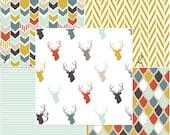 Modern Deer buck nursery baby bedding DESIGN YOUR OWN