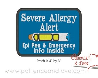 Epinephrine pen allergy patch