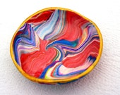 Marbled Clay Multicolored Ring Dish Medium Size