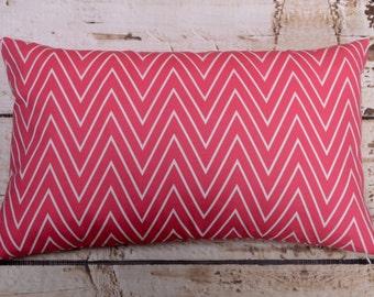 "Caitlin Wilson Tall Coral Chevron Fabric  20""x12""pillow cover-Ready to ship"