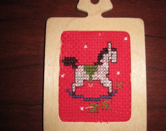 Rocking Horse Wooden Christmas Tree Ornament