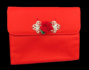 Red evening clutch, red evening bag, teen evening bag, formal clutch, prom purse, red purse, teen purse, date night purse, after 5 purse