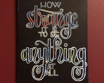 Canvas Art, Hand-lettered Alice in Wonderland quote