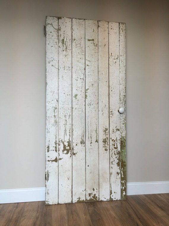 Farmhouse Door - Board and Batten - Rustic Wooden Door - Primitive Antiques - Batten Door - Barn Wood Door - Fixer Upper Decor