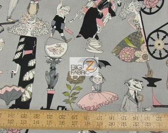 "100% Cotton Fabric By Alexander Henry - A Ghastlie End - Sold By The Yard  - 45"" Width (FH-2311)"