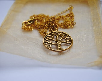 Once Upon a Time OUAT Regina Mills Evil Queen Tree Gold Necklace Replica Cosplay