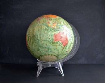 Mid Century Globe with Lucite Base | Replogle Reader's Digest Globe | Mid Century Modern | Space Age