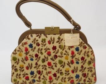 Vintage 50's/ 60's Dova velvet tapestry handbag