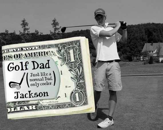 Golf Dad | Fathers Day Gift | Dad Gift | Gift for Dad | Dad Gifts | Husband Gift | Custom Money Clip | Money Clip Korena Loves
