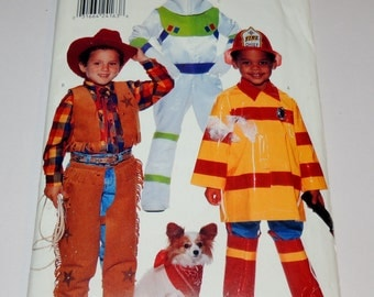 Butterick 4654 Boys Halloween Costume Pattern Uncut