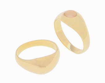 Gold Ring, Signet Ring, Oval Pinky Gold Filled Ring, Solid Gold Ring, Delicate Everyday jewelry.