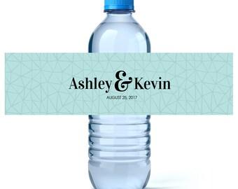 Wedding Water Labels - Wedding Water Bottles - Custom Water Bottle Labels - Wedding Favor Labels