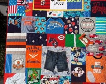 Memorial Quilt, Memorial Blanket, Memorial T-shirt Quilt, Memorial Clothes Quilt, Sympathy Quilt, Baby Clothes Quilt, Custom Order
