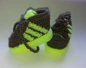 Crochet adidas baby booties, baby chucks,baby sneakers, adidas baby booties,fit booties,baby shower gift,chunky booties,american baby shower