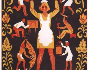 Propaganda poster, Lenin, Communism, Propaganda, Soviet, Stalin, Wall decor, Soviet propaganda, Russian, Soviet poster, USSR, Russia, 166