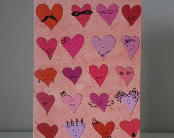 Love is all around - Illustrated Greeting Card