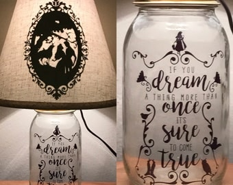 Sleeping Beauty 2.0 Inspired Mason Jar Character Lamp