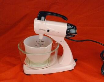 Refurbished Sunbeam Pink Mixmaster Mix Master kitchen Mixer Model 12