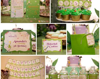 Tinkerbell Inspired Printable Party Set