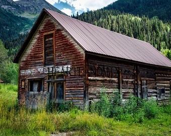 """Digital Download Photo """"Colorado Cabin"""" Wall Art"""