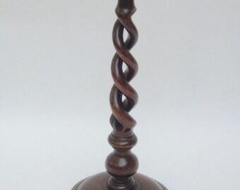 Antique English Barley Twist Candle Lamp Base