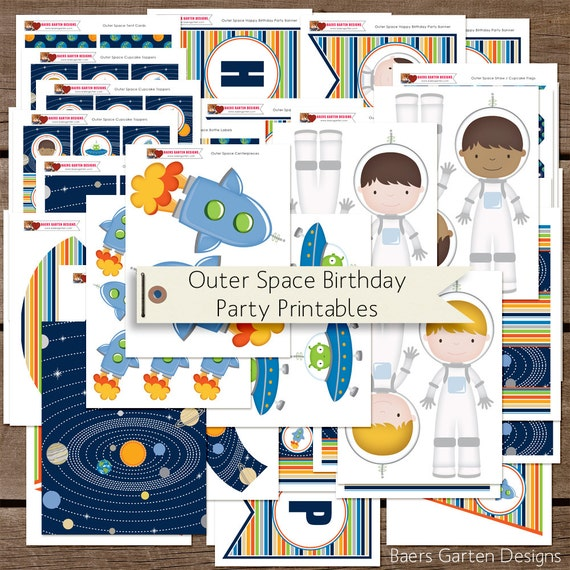 astronaut birthday party supplies - photo #32