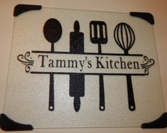"Personalized Name Kitchen Cutting Board - Size 12""x15"""