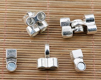 2pcs Tibetan silver plated Magnetic clasp connectors EF2045