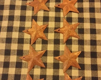 Rusty Metal Stars 10 Pieces approximately 1.5 inches