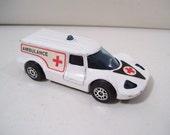 Vintage Corgi Juniors Healer Wheeler Ambulance Die-cast Car, 1970's, Great Britain, Rescue Vehicle