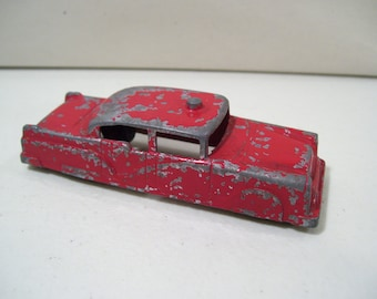 Vintage Midgetoy Die-cast Metal Police Car, Red, USA