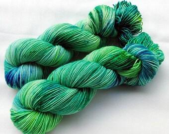 Handpainted Sock Yarn, 75 Wool  superwash, 25 Nylon 100g 3.5 oz.  Nr. 972
