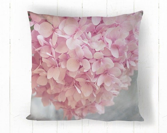 Pink Flower Decorative Throw Pillow Flower by SuzanneHarfordPhoto