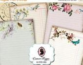 75% OFF SALE OLD Paper Cards Digital Collage Sheet Set of 8 Digital Journaling Scrapbooking Printable cards Instant Download