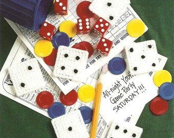 DIGITAL PATTERN: Dice Magnets 7ct Plastic Canvas  Mothers Day Gift