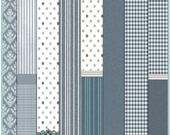 Dollhouse Printable Wallpaper Set 01