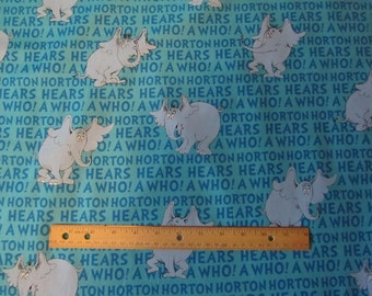 Blue Horton Hears a Who Cotton Fabric by the Yard