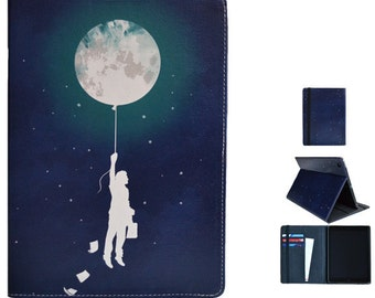 "Kindle Fire HD 7 2013 / Kindle Fire HDX 8.9 case from Create&Case ""Midnight"" stylish, unique colourful Kindle Fire case night stars sky moon"