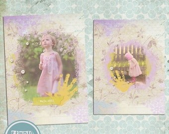 ON SALE 5x7 Photo Card/ Birth Announcement Card Psd Template vol.10 - INSTANT Download