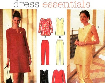 Simplicity Separates Pattern 7244 - Misses' Dress or Tunic and Pants - Simplicity Patterns Dress Essentials - Sz 16/18/20